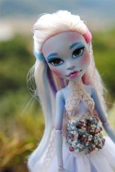 Ooak Repaint Abbey Bominable, full custom, dress included Monster high on Etsy, $70.00