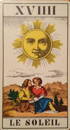 Carta solar del tarot, sol, sun