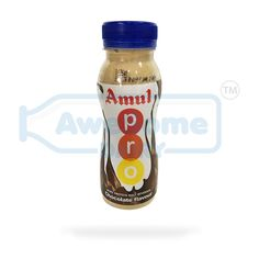 Amul: Amul is the leading brand in India for its food products and the beverage products and is known for high-quality milk and milk products.  Amul Pro chocolate: Amul pro chocolate shakers is produced with best quality natural ingredients. The dairy-based drink is homogenized and sterilized to keep it fresh till it is opened It is a perfect energy booster. The flavoured milk is packed in a travel-friendly bottle.