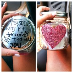 Cute idea for valentines day, or if you're going to be away from each other for a while.