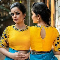 Are you looking for latest boat neck blouse designs 2020 model for front & back neck? Read More to view boat neck blouse designs catalogue. Blouse Back Neck Designs, Simple Blouse Designs, Stylish Blouse Design, Sari Blouse Designs, Designer Blouse Patterns, Dress Designs, Designer Dresses, Kurta Designs, Blouse Designs Catalogue