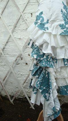 Upcycled Skirt Woman's Clothing Ivory White by BabaYagaFashion