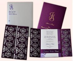 Indian Wedding Cards & Scroll Invitations