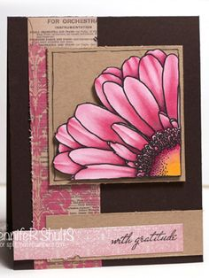 With Gratitude Nice layering and the strip of book page with stamping to coordinate is awesome