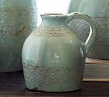 Celine Stamped Terra Cotta Pitcher, Small