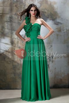 Beading Floor-Length A-Line One-Shoulder Taline's Homecoming/Prom Dress