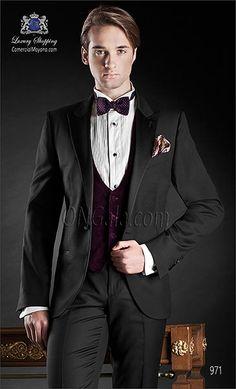 Traje de novio negro 971 ONGala Wedding suit