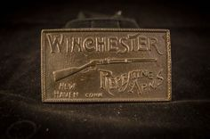 Winchester Repeating Arms New Haven Conn Vintage Belt Buckle RARE Free US Ship!!