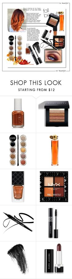 """""""Fall Beauty"""" by ellie-em42 on Polyvore featuring beauty, Essie, Bobbi Brown Cosmetics, Giorgio Armani, Givenchy, Gucci, Christian Dior, Eyeko and Marc Jacobs"""