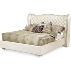 AICO Hollywood Swank King Upholstered Bed by Michael Amini