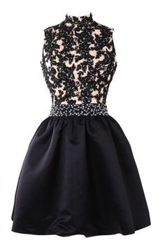 70a97327adcc Mini Short Prom Dress Party Dress Exquisite Short Mini High Neck Satin  Homecoming Cocktail Dress With Appliques Beaded · Společenské ŠatySvatební  ...