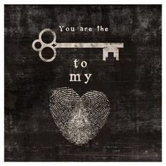 Key To My Heart Canvas Giclee Print