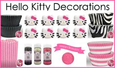 Hello Kitty Cake and Cupcake Decorations
