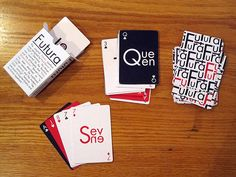 Futura Typographic Playing Cards on SCAD Portfolios