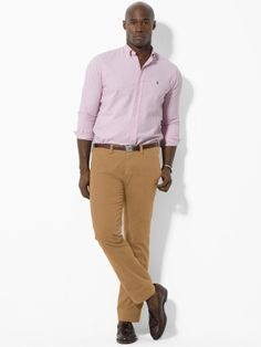 Ralph Lauren Twill flat-front suffield pants