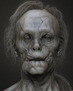 Mason Verger - Hannibal Movie by Adam Skutt #eerie #monstregram #creepy #darkness #hannibal #digitalart #conceptart #darkart #creaturedesign