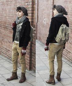cool men's fashion: Ja i mój miś (by Gracjan K.) http://lookbook.nu/look/4656935-Ja-i-m-j-mi