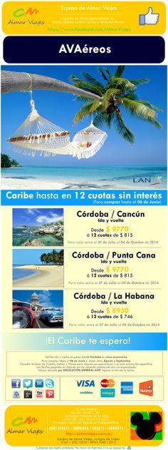 Outlet Premium de Almar l Hasta el 31% OFF a Caribe con LAN  (Para comprar antes del 06 de Junio y volar entre el 27 de Julio al 04 de Octubre de 2014)  [Blog de Contacto]: > http://almarviajes.wordpress.com/contactenos/ <  Equipo de Almar Viajes,  Amigos de Viajes.  EVyT - LEG 15220 - RESO 1040 / 2012