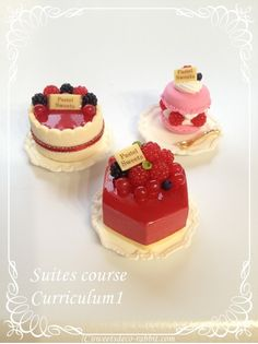 Mini Pastries, Polymer Clay Cake, Cherry Cake, Tiny Food, Mini Things, Sweet Cakes, Clay Charms, Miniature Food, Mini Cupcakes