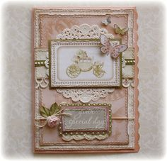 Wedding Card made by Websters pages design team member Gabrielle Pollacco using their 'In Love' collection papers and journaling cards