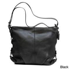 Coach Pebbled Leather Shoulder Bag   Overstock.com Shopping - Great Deals on Coach Shoulder Bags