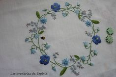 Broderie fleurie