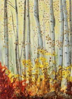 """Available in canvas and fine are paper prints. Saatchi Art Artist Stanza Widen; Collage, """"Forever Autumn"""" #art"""