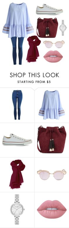 Hijab on Fall by ranilukman on Polyvore featuring Chicwish, Topshop, Converse, Loeffler Randall, Kate Spade, Le Specs and Lime Crime