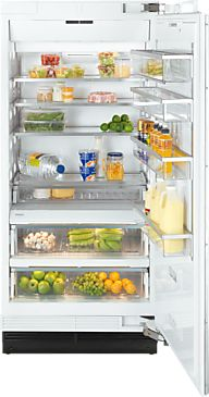 Miele 36 Inch MasterCool 36 Built In Column Refrigerator Panel Ready 36 Inch Refrigerator, Refrigerator Panels, Built In Refrigerator, Glass Shelves Ikea, Wine Glass Shelf, Caves, Miele Kitchen, Cantilever Shelf, Slide Out Shelves