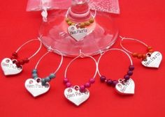 Libbys Market Place Magical Christmas Wine Glass Charms with Gift Box