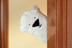 Wash cloth polar bear puppet