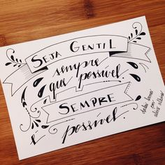 "Dia 85: Be kind whenever possible. It is always possible. 85/365 . Ilustrando o livro ""365 Dias Extraordinários"" em 365 dias #365diasdehandlettering #365days #365diasextraordinarios #365daysofwonder #2015challenge #desafio2015 #intrinseca #365daysproject #preceitos #precepts #typespire #goodtype #thedailytype #thedesigntip #handlettering #lettering #type #typeveryday #handmadefont #typoholic #ilovetypography #vsco #vscocam #quotes #design #instaquotes #frases #trechos..."