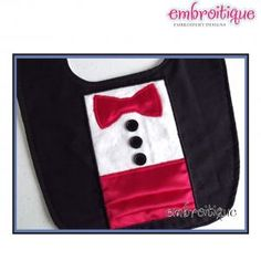 In The Hoop - Black Tie Tuxedo Bowtie and Cummerbund ITH Applique on sale now at Embroitique!