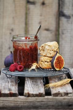 Fig Orange Raspberry and Rum Jam