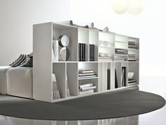 OPEN DOUBLE-SIDED DIVIDER MULTI-LAYER WOOD BOOKCASE LOGICA   CIACCI