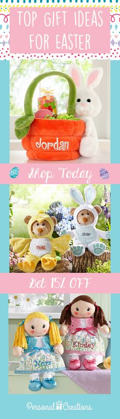 Easter's on its way! Let's make memories with personalized gifts. Shop today and get 15% off your order.