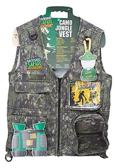 Backyard Safari Camo Jungle Vest >>> Click on the image for additional details.