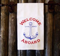 As always you are Welcome Aboard. Anchor galley or beach house decor.