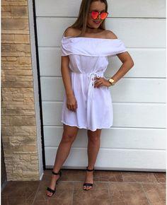 VÝPREDAJ Biele volánové pohodlné šaty veľ.UNI 1550 #tvojstylfashion#collection