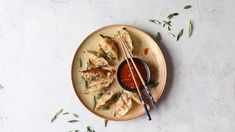 Homemade Vegetable Potstickers with Toasted Sesame Honey Soy Sauce