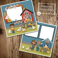 Im ready to fly the Coop-2 Premade Scrapbook Pages for printing or digital scrapbooking by AdrisCorner on Etsy Book Sites, Im Ready, Scrapbooks, Photo Book, Scrapbook Pages, Digital Scrapbooking, Craft Supplies, Custom Design, Prints