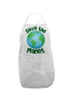 TooLoud Save the Planet - Earth Adult Apron