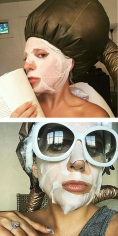 Lady Gaga Works the Temple Spa Face Mask
