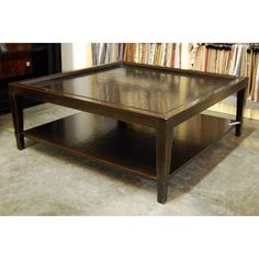 Bernhardt Furniture Vintage Patina Square Cocktail Table BN-322-011B