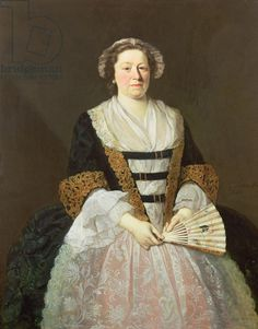 Portrait of Unknown Lady by George Beare (fl.1740-50 | So luxe! Great look for an older woman who likes a bit of glitz.