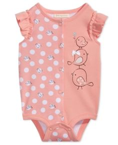 First Impressions Cotton Graphic-Print Bodysuit, Baby Girls, Created for Macy's - Pink 12 months Organic Baby Clothes, Cute Baby Clothes, Babies Clothes, Babies Stuff, Newborn Girl Outfits, Toddler Girl Outfits, Outfits Niños, Kids Outfits, Baby Girl Fashion