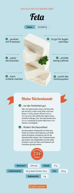 Das solltest du über Feta wissen | eatsmarter.de #infografik #feta #schafskäse
