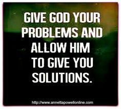 Thank you Lord for the Solutions..