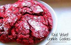 Red Velvet Crinkle Cookies - only 4 ingredients!  http://www.stockpilingmoms.com/2012/12/red-velvet-crinkle-cookies/