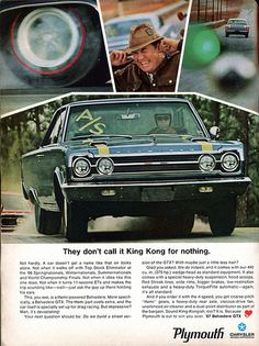 1967 Plymouth Belvedere GTX Advertising Hot Rod Magazine June 1967